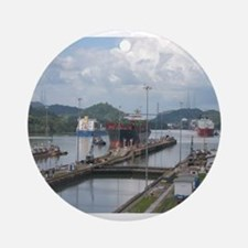 Miraflores Locks, Panama Canal Ornament (Round)