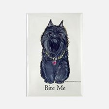 Brussels Bite Me Griffon Rectangle Magnet