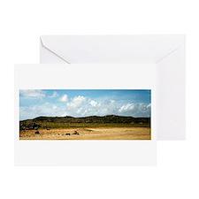 Carribean Island Beach Scene Greeting Cards