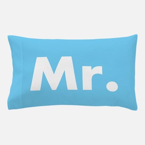 Blue half of Mr and Mrs set - Mr Pillow Case