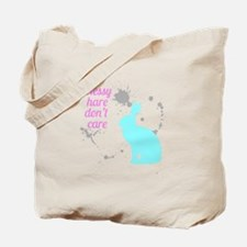 Messy hare don't care Tote Bag