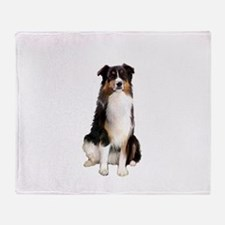 Aussie Shep (Tri3) Throw Blanket