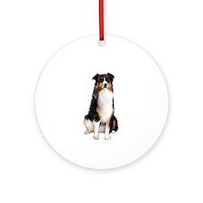 Aussie Shep (Tri3) Ornament (Round)