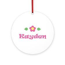 "Pink Daisy - ""Kayden"" Ornament (Round)"