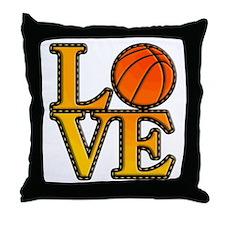 basketball love Throw Pillow
