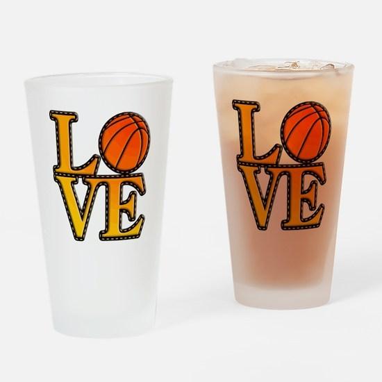 basketball love Drinking Glass