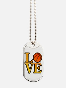 basketball love Dog Tags