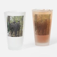 Percheron Team Drinking Glass