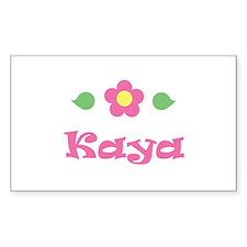 """Pink Daisy - """"Kaya"""" Rectangle Decal"""