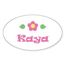 "Pink Daisy - ""Kaya"" Oval Decal"