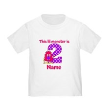 2nd Birthday Pink Monster T-Shirt