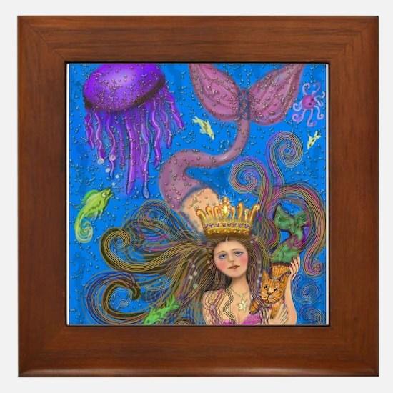Mermaid & Mercat diva & Cat Framed Tile