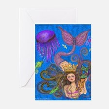 Mermaid & Mercat diva & Cat Greeting Cards (Packag