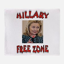 NO HILLARY ZONE Throw Blanket
