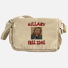 NO HILLARY ZONE Messenger Bag