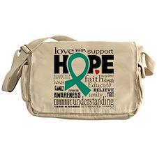 Cervical Cancer Words Messenger Bag