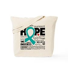 Cervical Cancer Words Tote Bag
