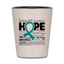 Cervical Cancer Words Shot Glass