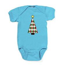 Holiday Argyle Baby Bodysuit