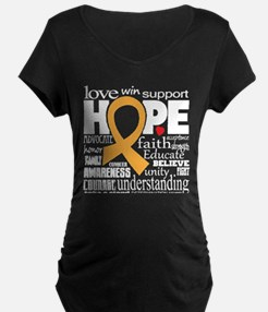 Childhood Cancer Words T-Shirt