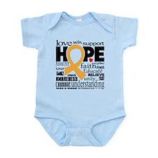 Childhood Cancer Words Infant Bodysuit