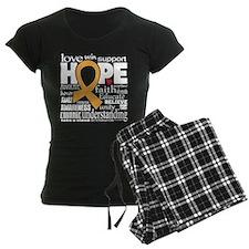 Childhood Cancer Words Pajamas