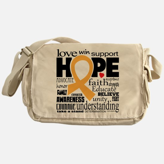 Childhood Cancer Words Messenger Bag