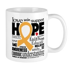 Childhood Cancer Words Mug