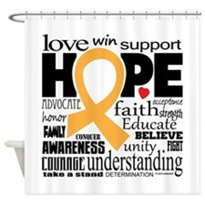 Childhood Cancer Words Shower Curtain
