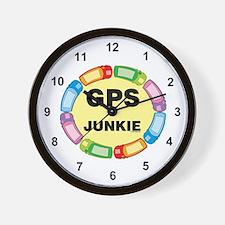GPS Junkie Wall Clock