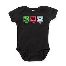 Peace Love Fly Baby Bodysuit