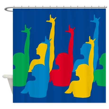 Synchronized swimming shower curtain by sports tshirts shop Swimming pool shower curtain