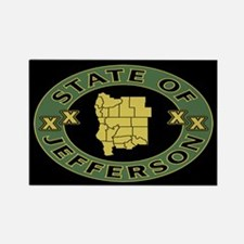 XX State of Jefferson XX Rectangle Magnet