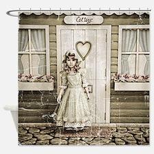 Vintage Girl Shower Curtain