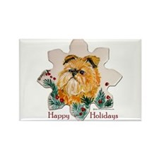 Brussels Happy Holidays Rectangle Magnet