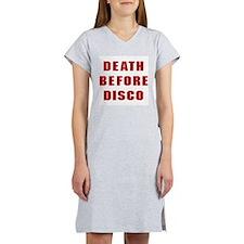 Death Before Disco Women's Nightshirt