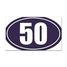 50 Blue Oval Rectangle Car Magnet