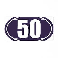 50 Blue Oval Aluminum License Plate