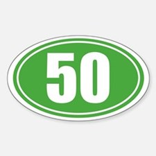 50 Green oval decal Decal