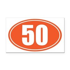 50 orange oval Rectangle Car Magnet