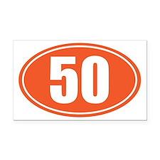 50 orange oval Rectangle Car Magnet