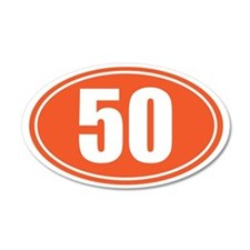 50 orange oval Wall Sticker