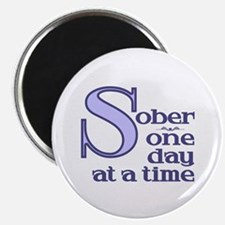"Sober One Day At A Time 2.25"" Magnet (100 pack)"
