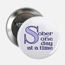 Sober One Day At A Time Button