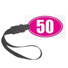 50 pink oval Luggage Tag