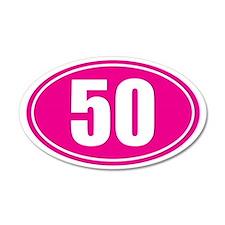 50 pink oval Wall Sticker