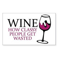 Wine Classy People Decal