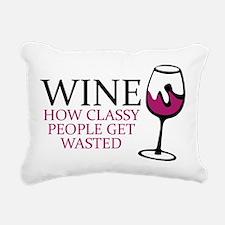 Wine Classy People Rectangular Canvas Pillow