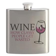 Wine Classy People Flask
