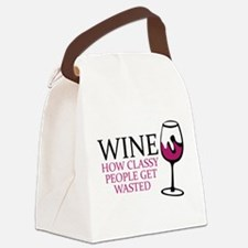 Wine Classy People Canvas Lunch Bag